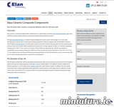 Read more about: Glass Ceramic Material By Elan Technology