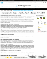 Professional Pre-Season Training Tips You Can Use at Your Club