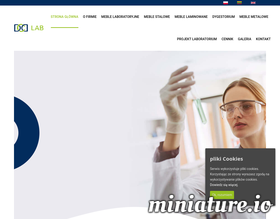 DCD meble laminowane do laboratorium