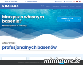 Producent basenów - Baslux