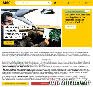 Adac.de Screenshot
