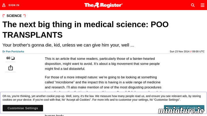 The next big thing in medical science: POO TRANSPLANTS